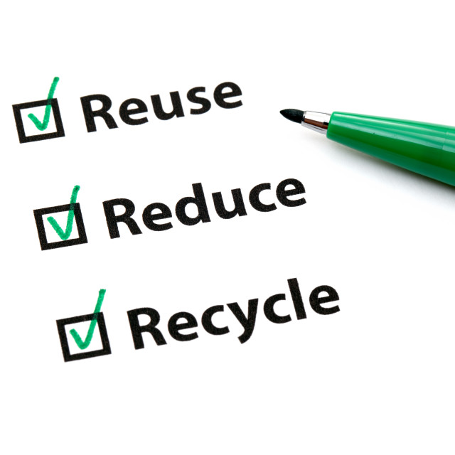 """Reuse, Reduce and Recycle"" stock image"