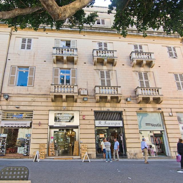 """Valletta shops"" stock image"