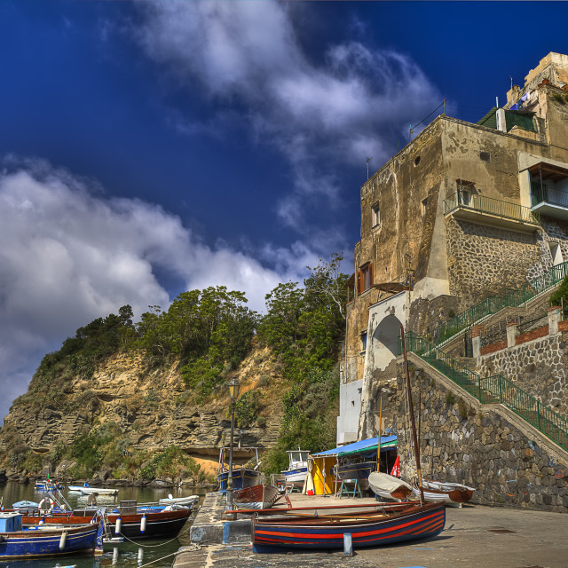 """The Corricella : the oldest fishing village of Procida island"" stock image"