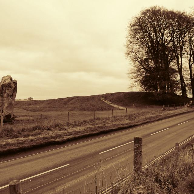 """Avebury road"" stock image"