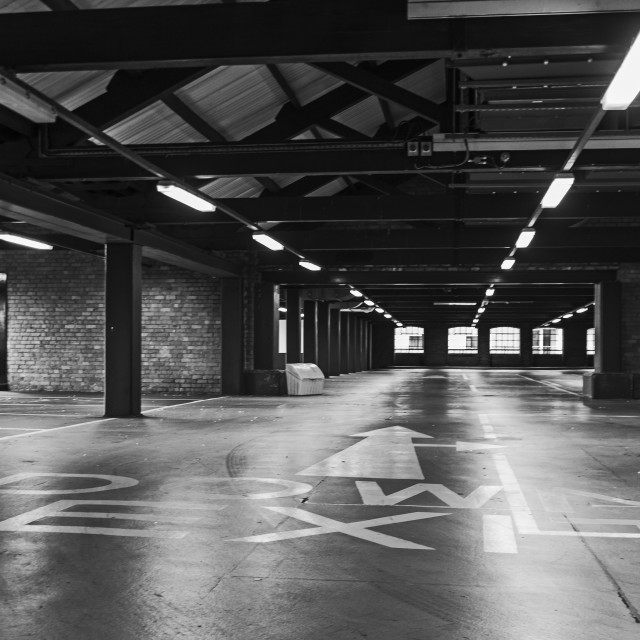 """Empty car park"" stock image"
