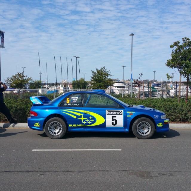 """Richard Burns 1999 Subaru Impreza"" stock image"