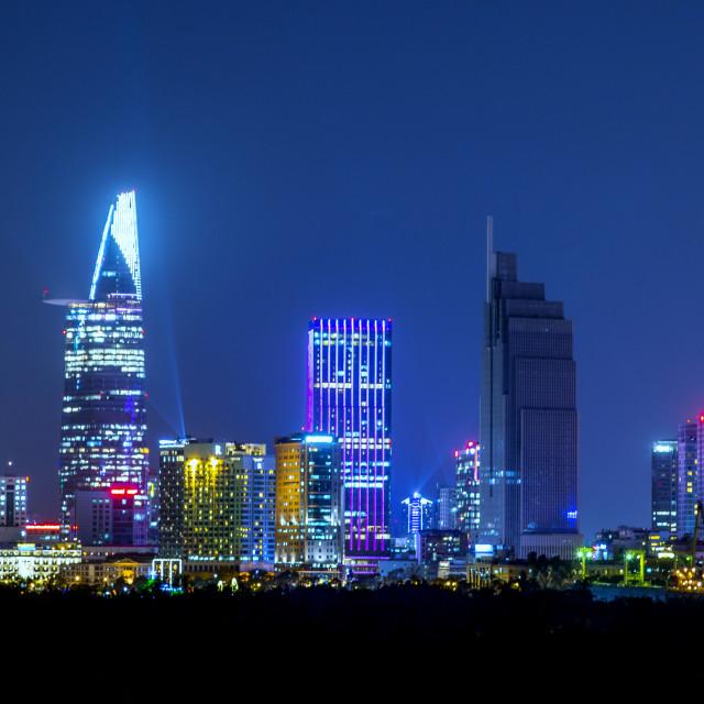 """Night at Ho Chi Minh City"" stock image"