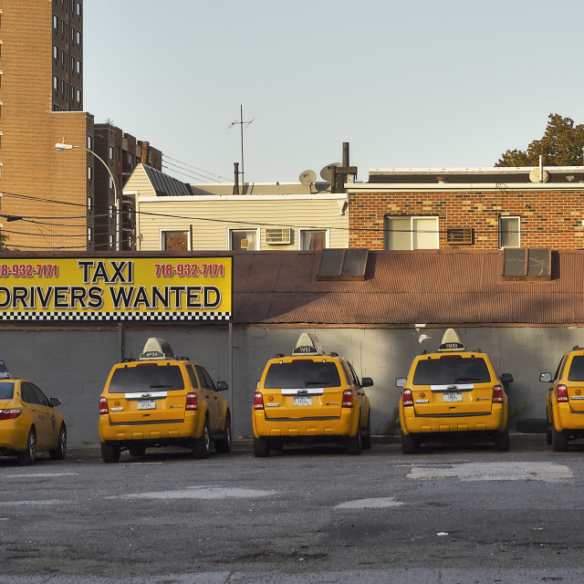"""Taxi Drivers Wanted"" stock image"