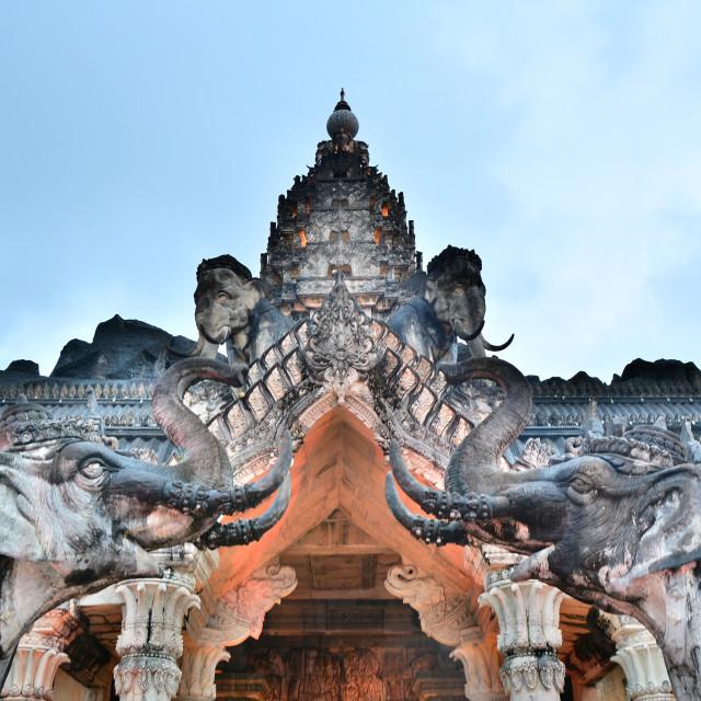 """Elephant temple"" stock image"