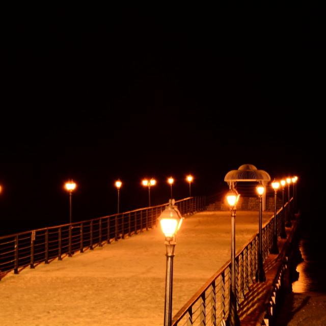 """Night deck"" stock image"