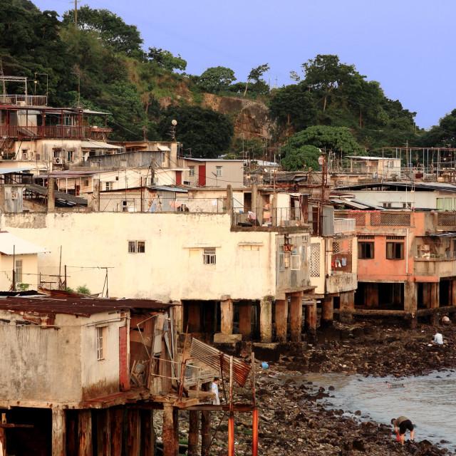 """""""fishing village of Lei Yue Mun in Hong Kong"""" stock image"""