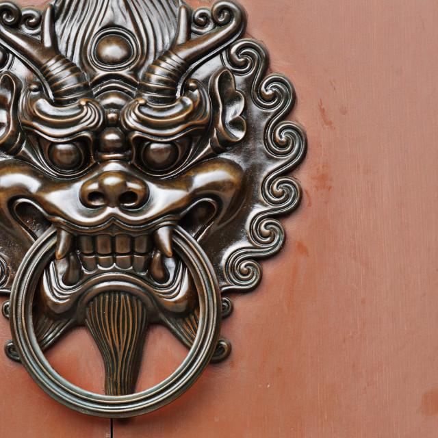 """""""lion door knob"""" stock image"""
