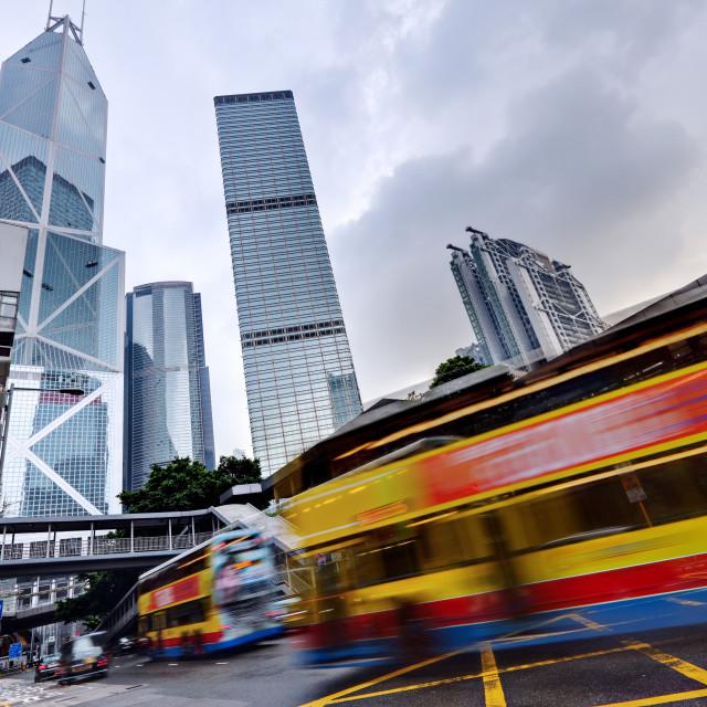 """Hong Kong rush traffic"" stock image"