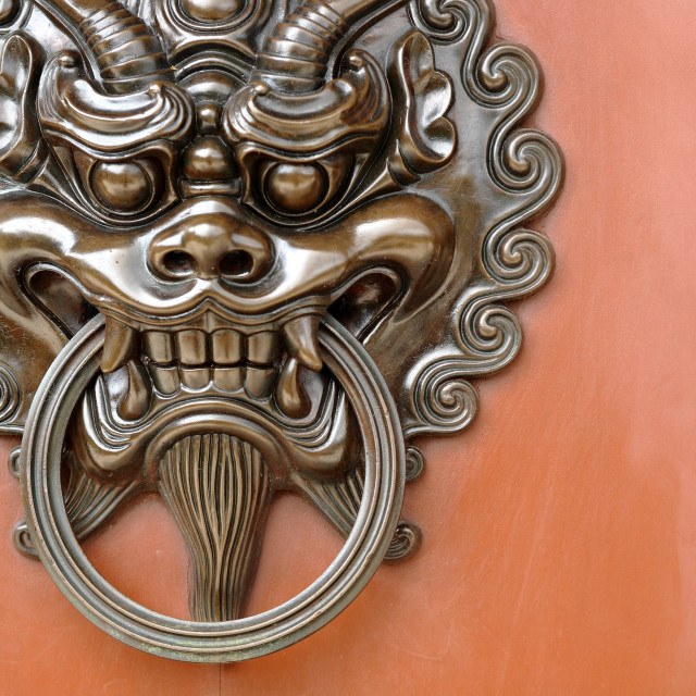 """lion door lock"" stock image"