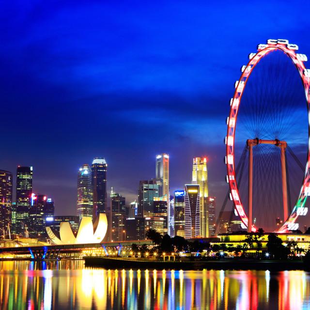 """""""Singapore city by night"""" stock image"""
