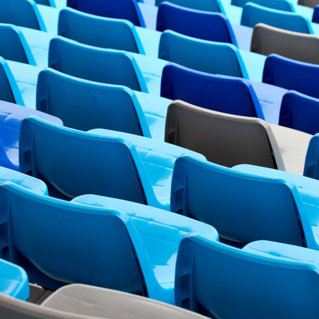 """""""Sport arena with seats in blue color"""" stock image"""