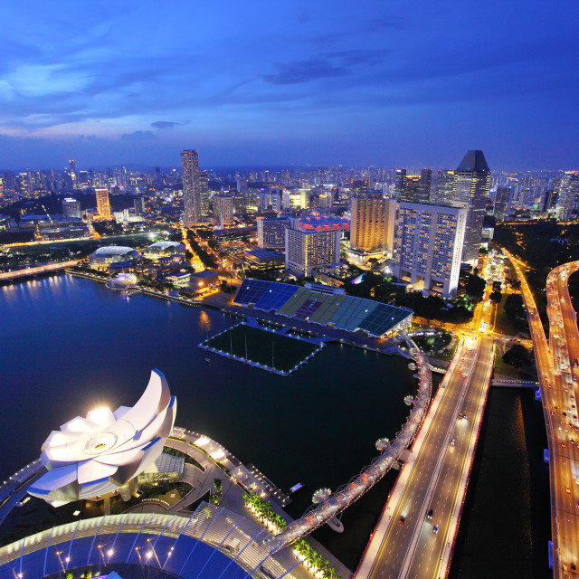 """Singapore at evening"" stock image"