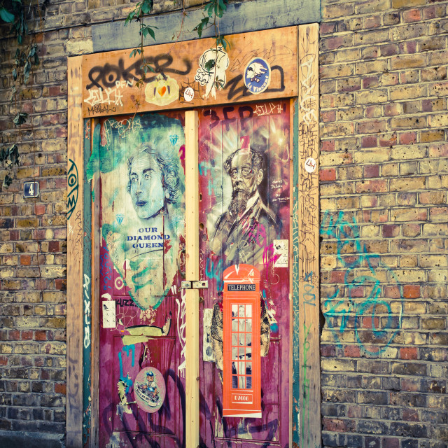 """London city graffiti"" stock image"