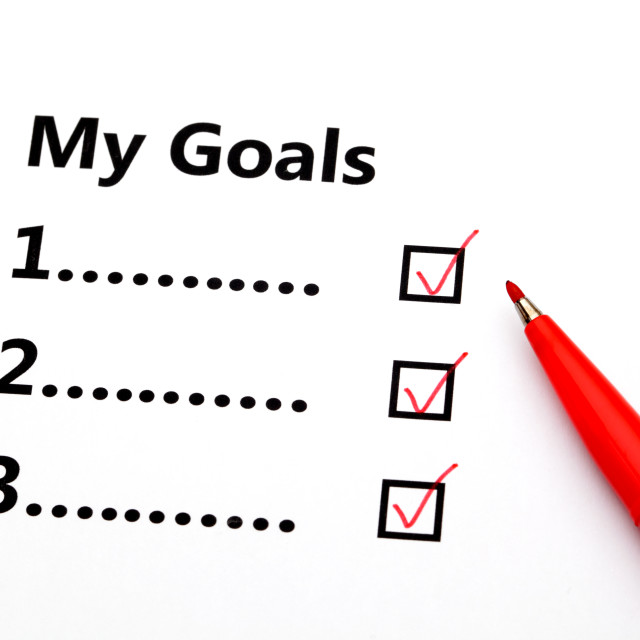 """""""Achieved goal"""" stock image"""