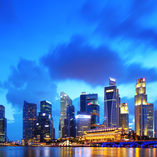 """""""Singapore financial district"""" stock image"""
