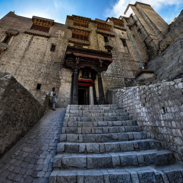 """Entrance to Leh Palace"" stock image"