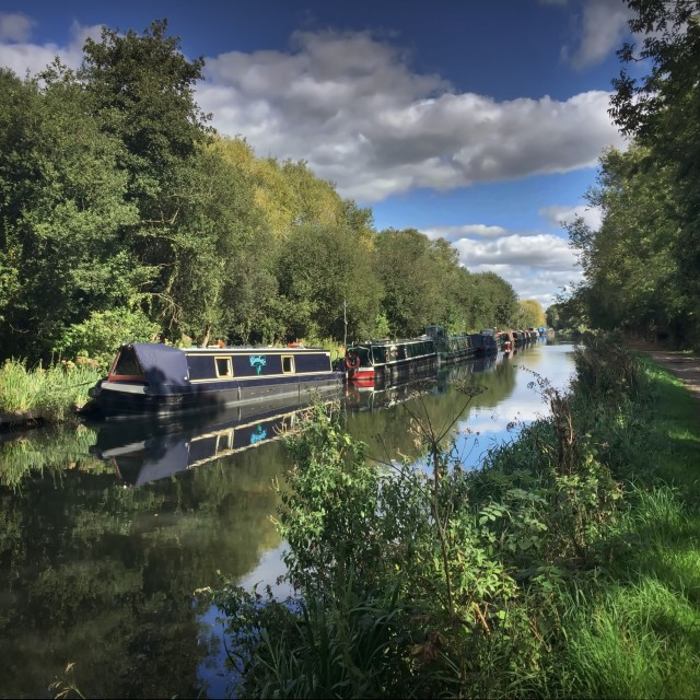 """Autumn on the Kennet and Avon Canal"" stock image"