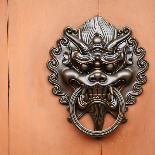 """lion door knob"" stock image"