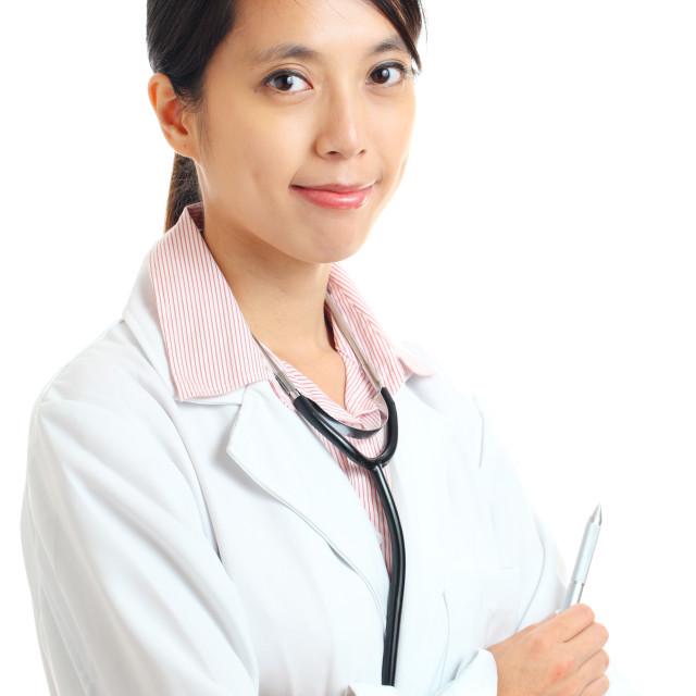 """Asian female doctor portrait"" stock image"