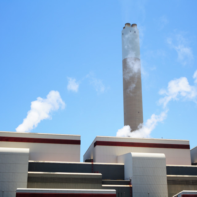 """""""Coal fired power plant"""" stock image"""