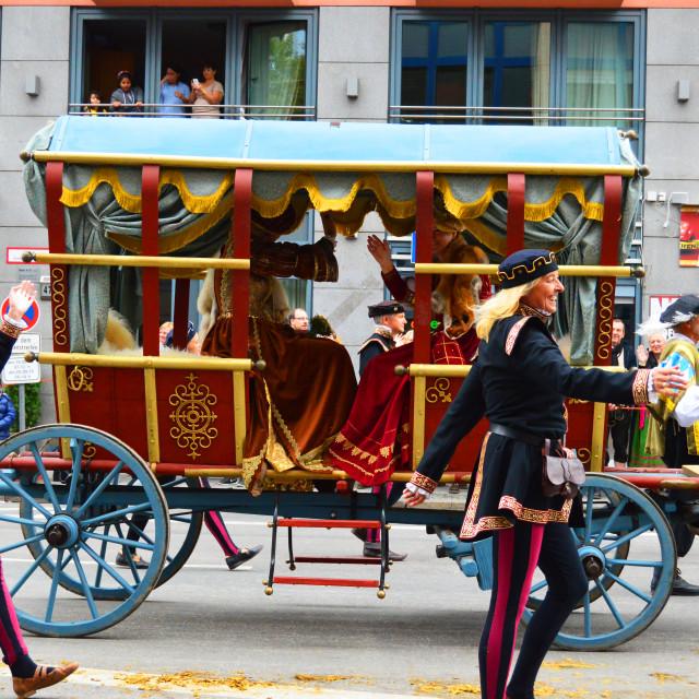 """Oktoberfest smile: cart walkers"" stock image"