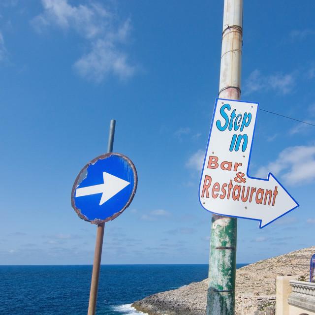 """Road sign arrow"" stock image"