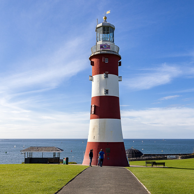 """Smeaton's Tower on Plymouth Hoe"" stock image"