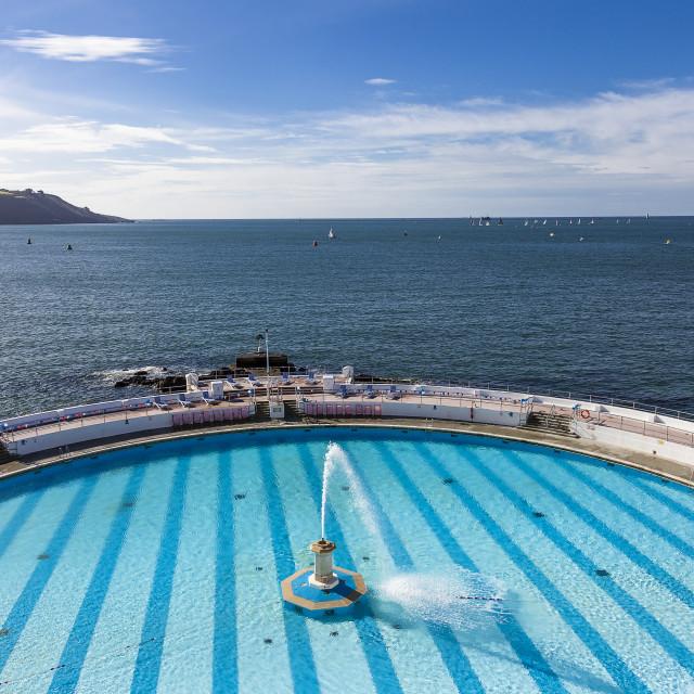 """Plymouth's Tinside Pool"" stock image"
