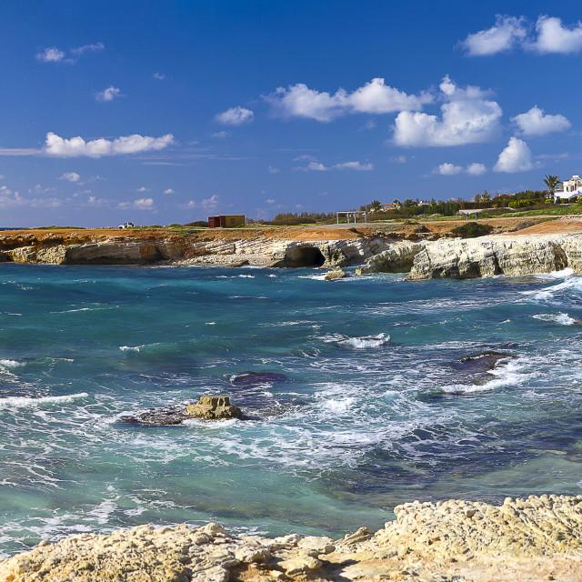 """""""Shipwreck of Edro III Cyprus Island"""" stock image"""