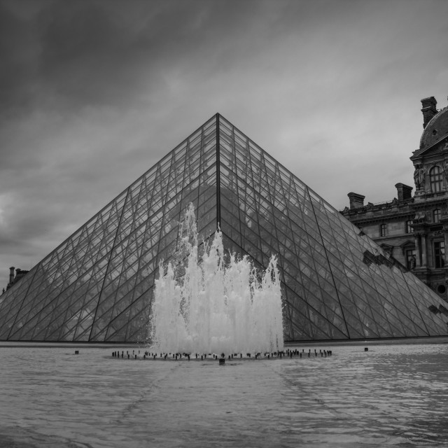 """""""The Louvre, Paris"""" stock image"""