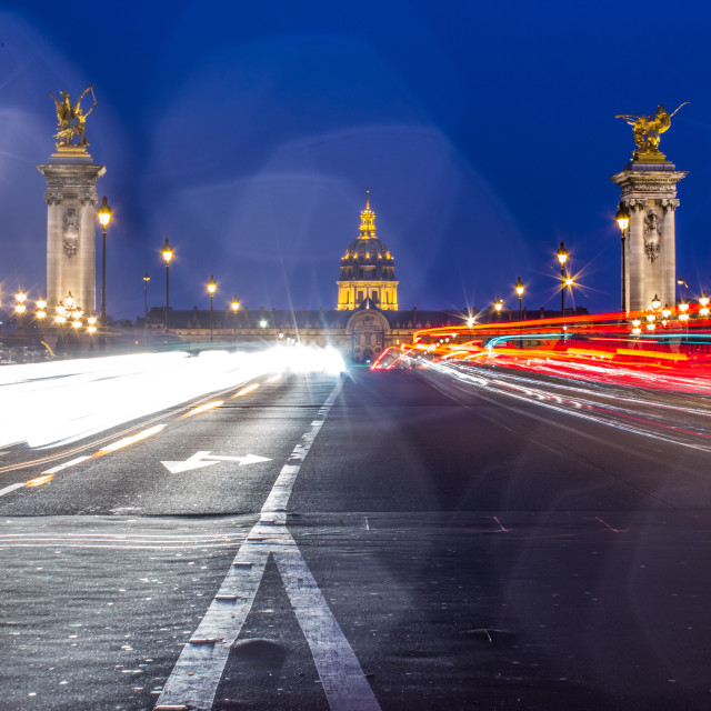 """Paris at night, hotel des invalides"" stock image"