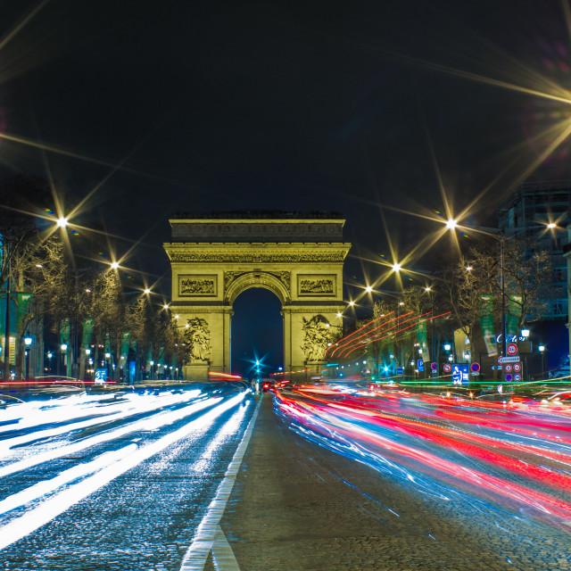 """""""Arc de triomphe, Paris"""" stock image"""