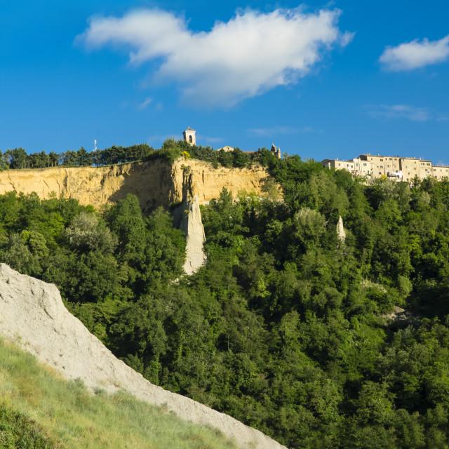 """""""Volterra village : Le balze (the crags)"""" stock image"""