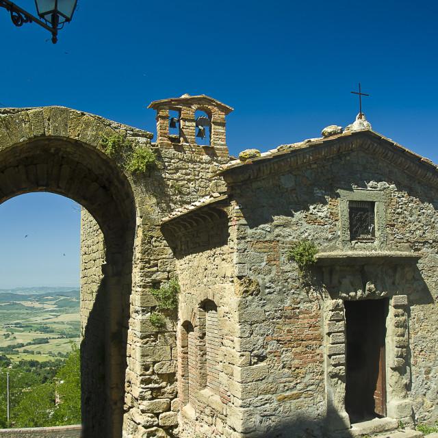 """""""San Felice port Volterra Tuscany (Italy)"""" stock image"""