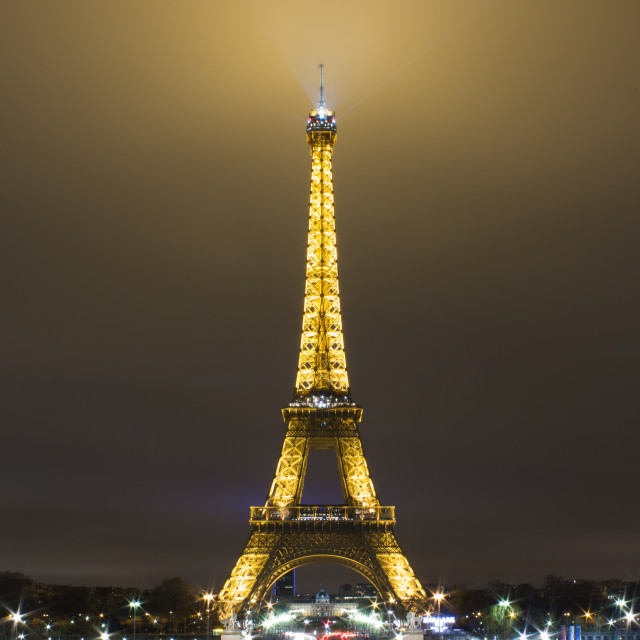 """Eiffel Tower, Paris at night."" stock image"