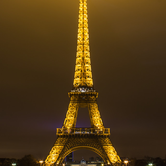 """Eiffel Tower, Paris at night."" stock image"