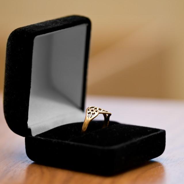 """Engagement ring"" stock image"