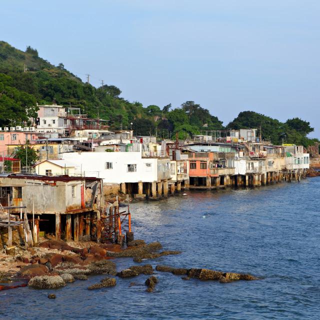 """""""village of Lei Yue Mun in Hong Kong"""" stock image"""