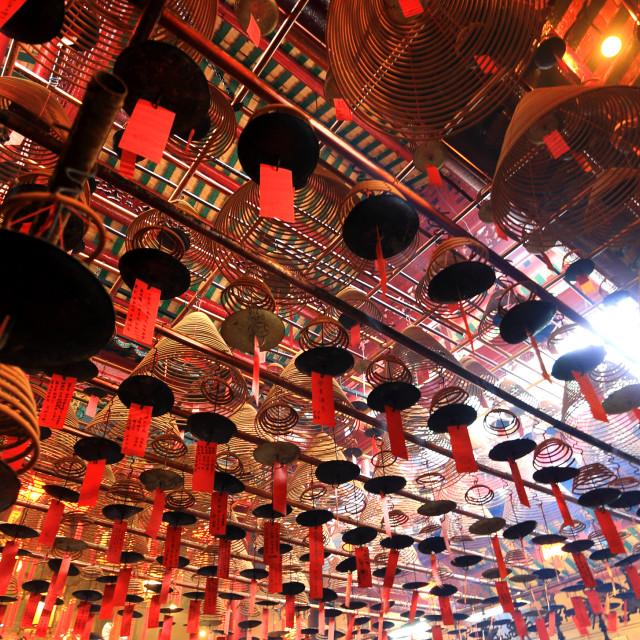 """""""Man Mo Temple. Hong Kong"""" stock image"""