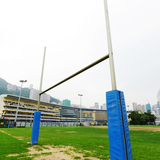 """rugby goalpost"" stock image"
