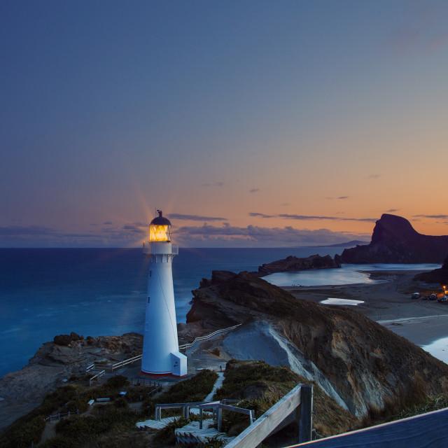 """""""Lighthouse and Dusk"""" stock image"""