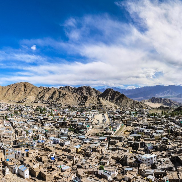 """View from Leh Palace"" stock image"