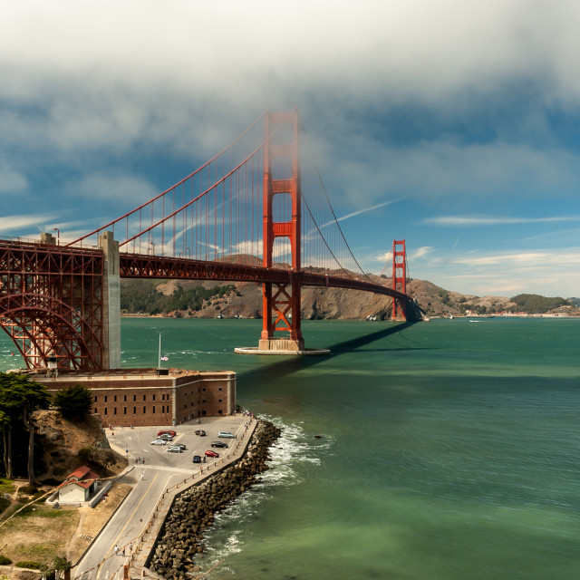 """Misty Golden Gate Bridge"" stock image"