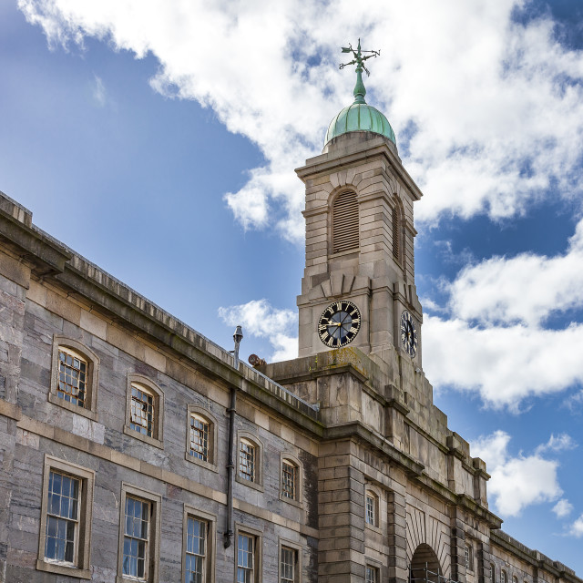 """The Royal William Yard clock Tower"" stock image"