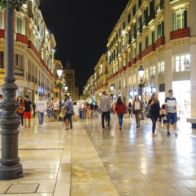 """""""Calle Marqués de Larios"""" stock image"""