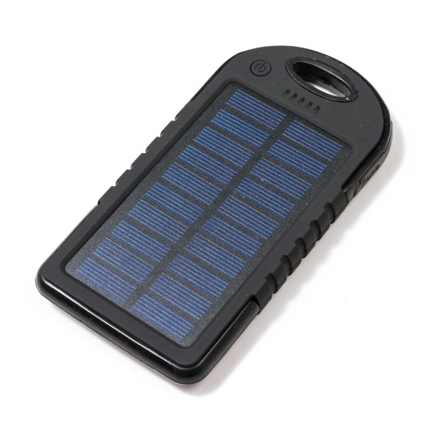 """Portable solar charger"" stock image"