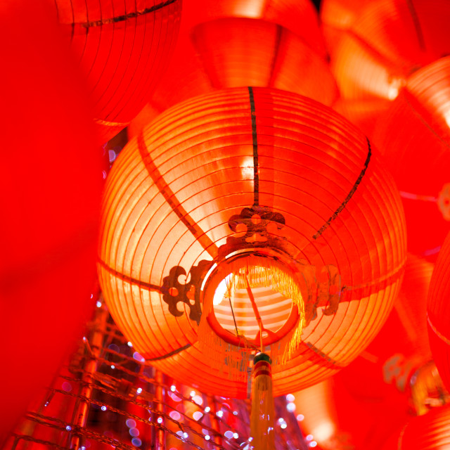 """Hanging red lantern for chinese new year"" stock image"