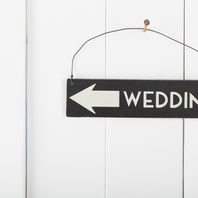 """Sign wedding"" stock image"