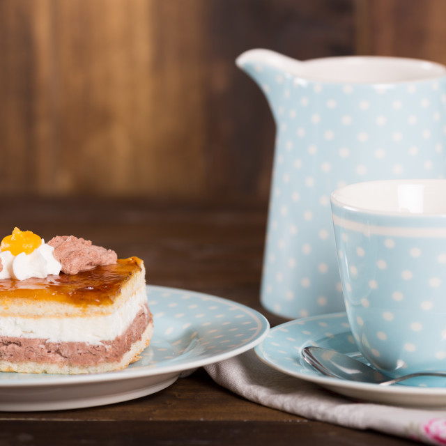 """""""Snack with coffee and cake"""" stock image"""